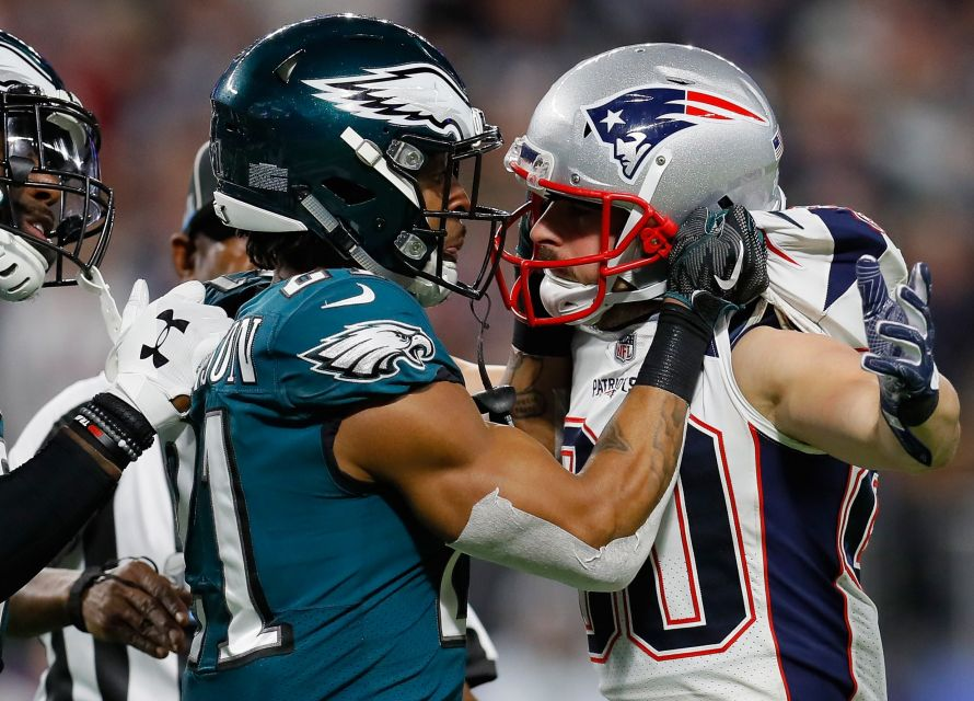 Super Bowl - Philadelphia Eagles contra New England Patriots.